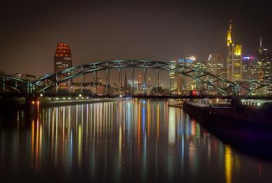 Blick von der Osthafenbrücke | Frankfurt am Main